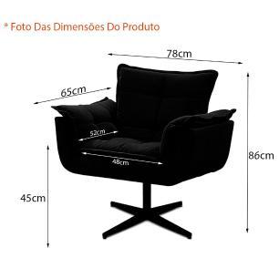 Kit de 2 Cadeiras Decorativa Opala Vermelho Bordô Giratória
