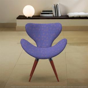 Poltrona Egg Colmeia Rosa e Lilás Cadeira Decorativa com Base Fixa