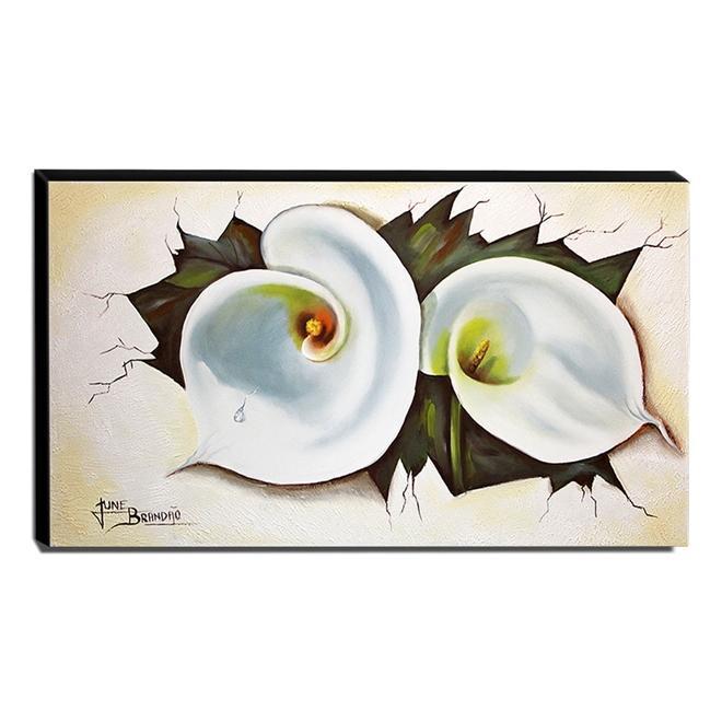 Quadro de Pintura Copo de Leite 60x105cm-1374