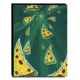 Quadro Cozinha Vintage Pizza Canvas 40x30cm-COZ206