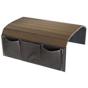 Esteira para Braço de Sofá com Porta Controle Courino Tabaco