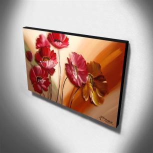 Quadro de Pintura Papoulas 60x105cm-1539
