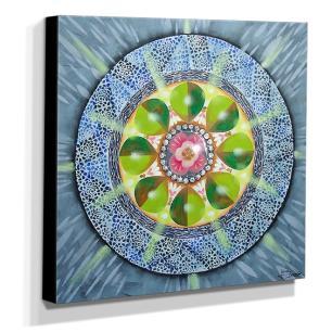 Quadro de Pintura Mandala 70x70cm-0834