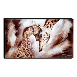 Quadro de Pintura Girafas 60x105cm-1634