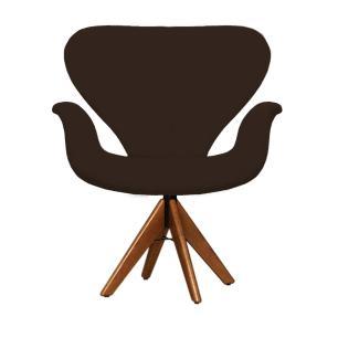 Cadeira Decorativa Tulipa Marrom Giratória Madeira