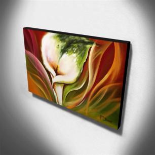 Quadro Decorativo Canvas Copo de Leite 60x105cm