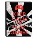 Quadro Keep Calm And Play Games Canvas 40x30cm-KCA96