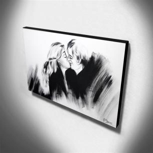 Quadro de Pintura Beijo 70x120cm-1136