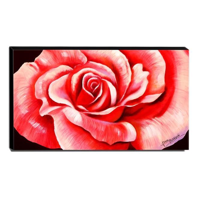 Quadro de Pintura Rosa 60x105cm-1556