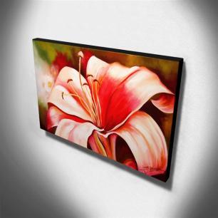Quadro Decorativo Canvas Lírio 60x105cm