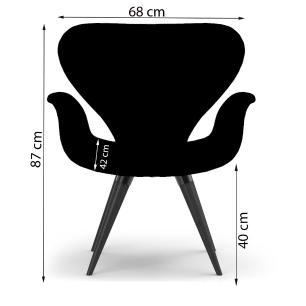 Poltrona Decorativa Cadeira Tulipa Marrom Base Fixa Madeira