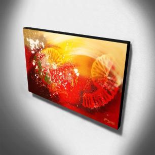 Quadro Decorativo Canvas Abstrato 60x105cm-QA-25