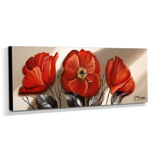Quadro de Pintura Papoulas 40x105cm-1798
