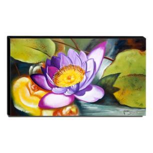 Quadro Decorativo Canvas Flor de Lótus 60x105cm
