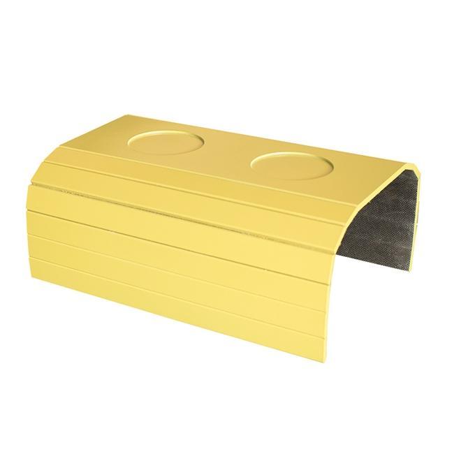 Bandeja Laqueada para Sofá Porta Copos Amarela