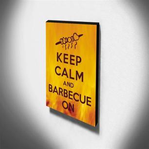 Quadro Keep Calm And Barbecue On Canvas 40x30cm-KCA69