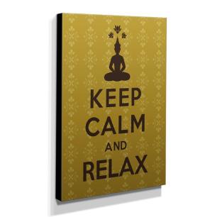 Quadro Keep Calm And Relax Canvas 40x30cm-KCA14