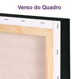 Trio de Quadros Decorativos Canvas Rosas Azuis 60x60cm Cada-QF6T-60