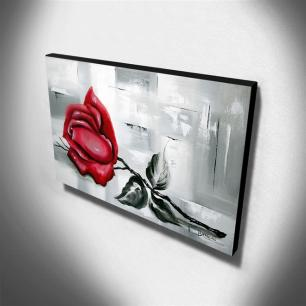 Quadro de Pintura Rosa 60x105cm-1699