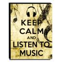 Quadro Keep Calm And Listen To Music Canvas 40x30cm-KCA20