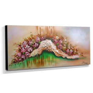 Quadro de Pintura Floral 50x120cm-0807