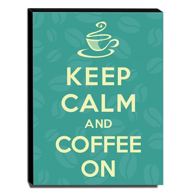 Quadro Keep Calm And Coffee On Canvas 40x30cm-KCA34