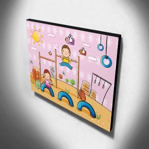 Quadro Infantil Parque de Diversões Canvas 30x40cm-INF85