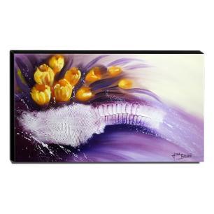 Quadro Decorativo Canvas Floral 60x105cm-QF4
