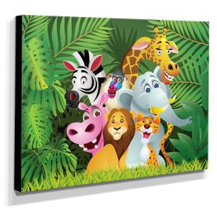 Quadro Infantil Animais Canvas 30x40cm-INF276