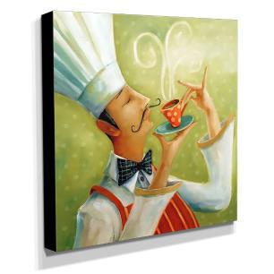 Quadro Cozinha Vintage Café Canvas 30x30cm-COZ196
