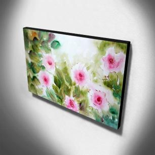 Quadro de Pintura Floral 60x105cm-1569