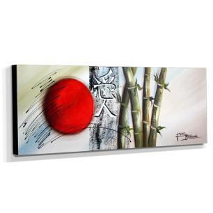 Quadro Decorativo Canvas Oriental Ideograma Amor 40x105cm
