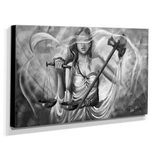 Quadro Decorativo Canvas Deusa da Justiça 70x120cm-QJ14