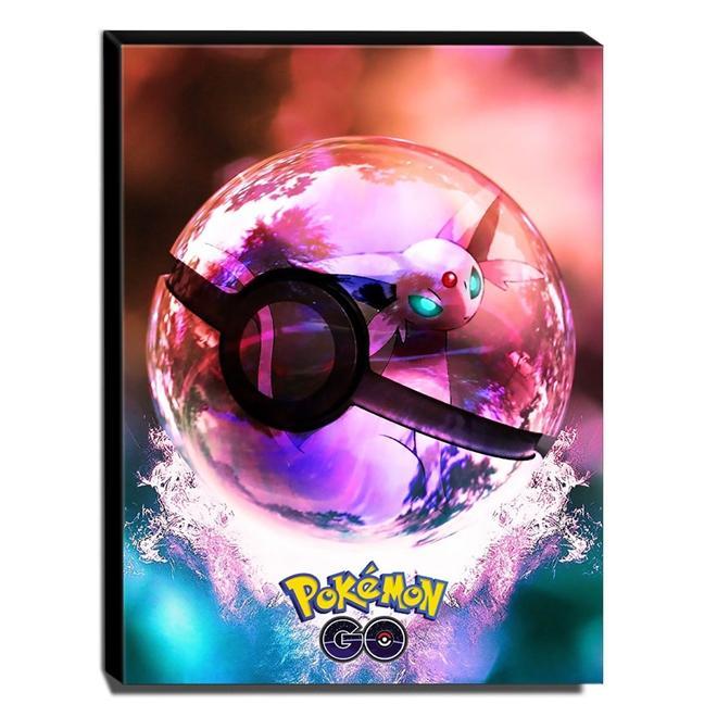 Quadro Pokémon GO Poké Ball Canvas 40x30cm-INF29