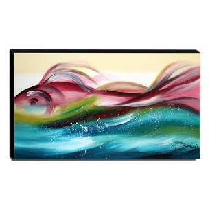 Quadro Decorativo Canvas Abstrato 60x105cm-QA-30