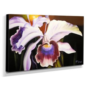 Quadro de Pintura Orquídea 60x105cm-1470
