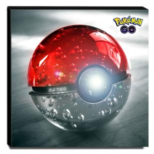 Quadro Pokémon GO Poké Ball Canvas 30x30cm-INF30