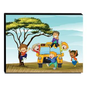Quadro Infantil Crianças Canvas 30x40cm-INF179