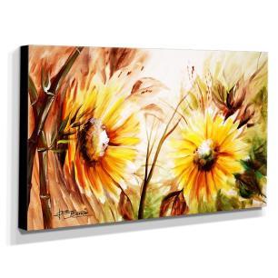 Quadro de Pintura Girassol 70x120cm-1567