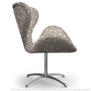 Cadeira Egg Colmeia Marrom Poltrona Decorativa com Base Giratória