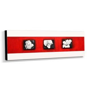 Quadro de Pintura Floral 35x120cm-1309