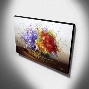 Quadro Decorativo Canvas Floral 60x105cm-QF12