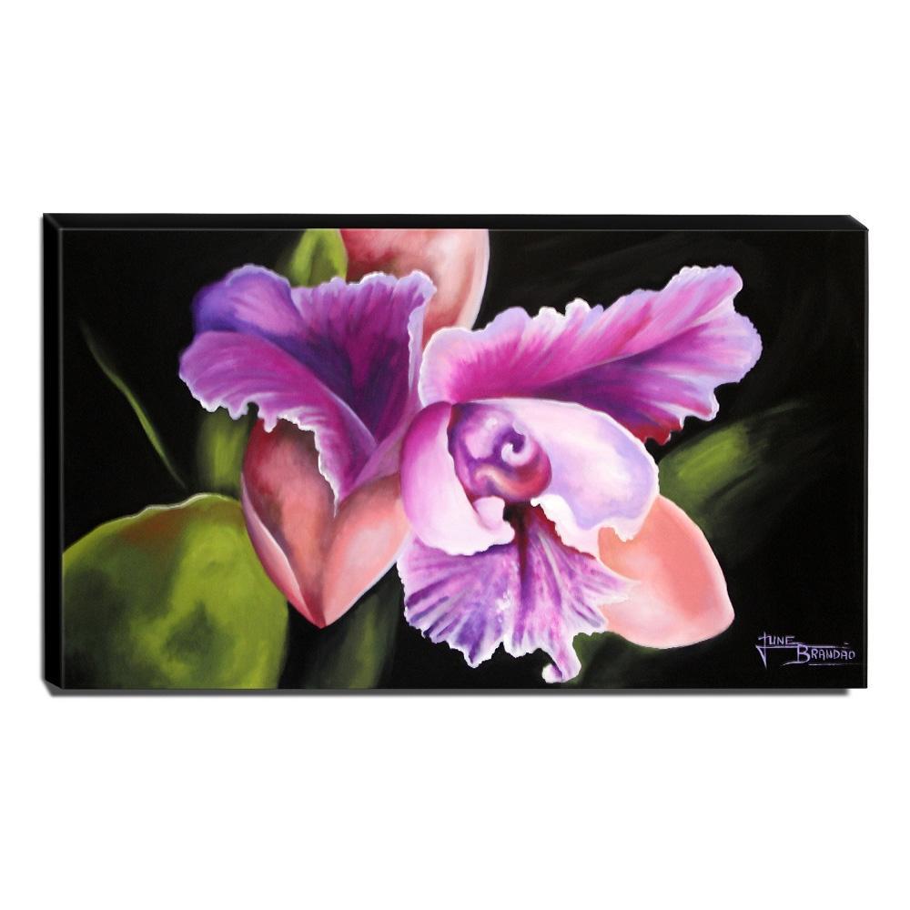 Quadro Decorativo Canvas Floral 60x105cm-QF22