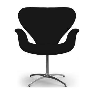 Kit 2 Cadeiras Decorativas Tulipa Preta Base Giratória