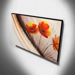 Quadro de Pintura Papoulas 60x105cm-1474