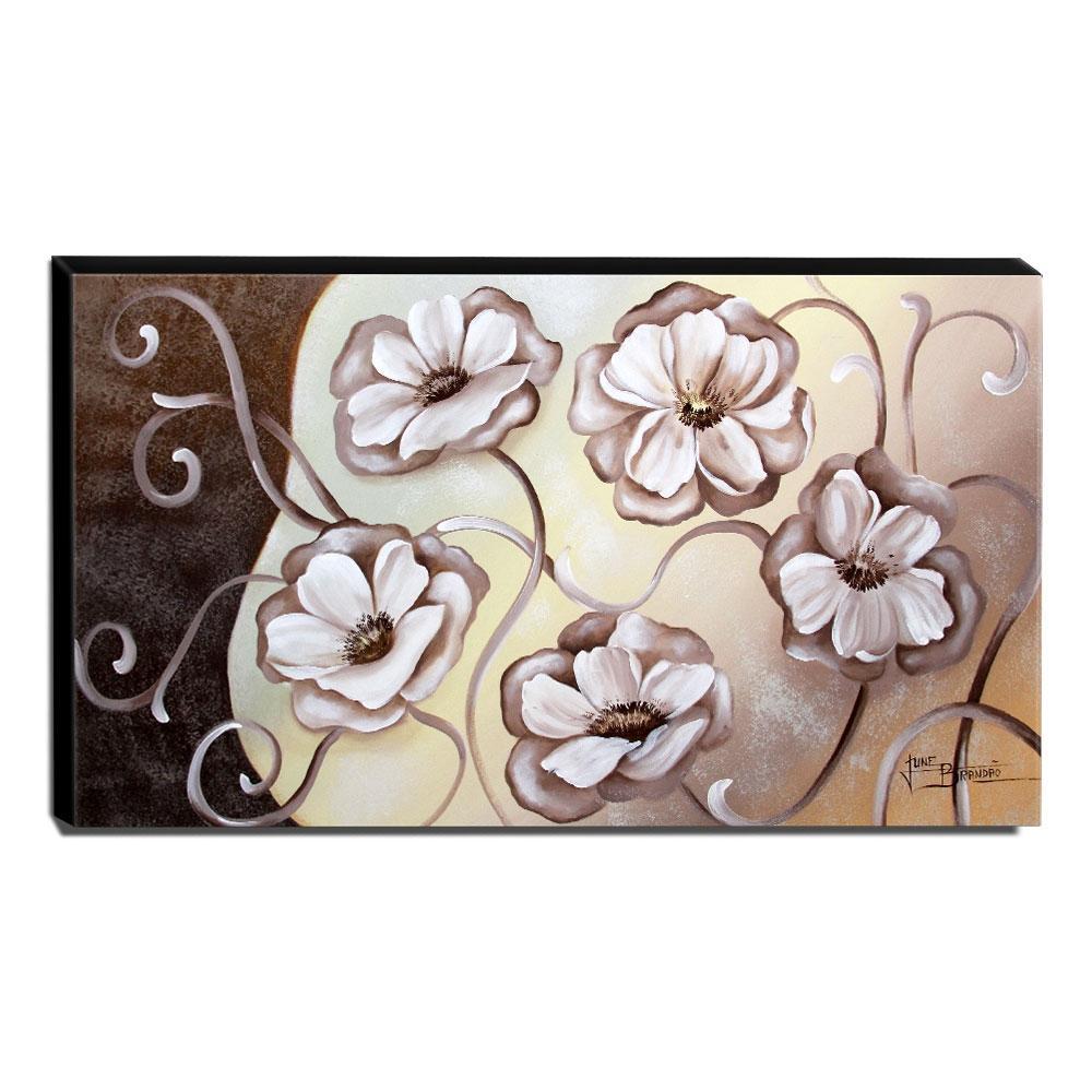 Quadro Decorativo Canvas Floral 60x105cm-QF8
