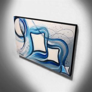Quadro de Pintura Abstrato 70x120cm-1464