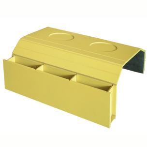 Bandeja Laqueada para Sofá Porta Copos Com Porta Controle Amarelo