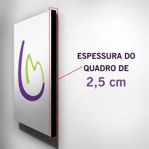 Quadro Infantil Ursinho Thanks Canvas 30x30cm-INF50