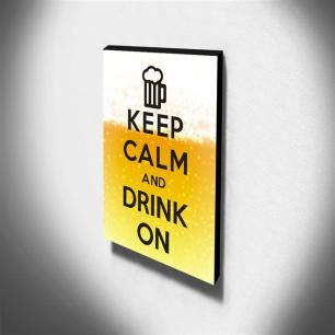 Quadro Keep Calm And Drink On Canvas 40x30cm-KCA65